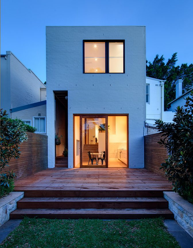 exterior elevation of house in bondi junction by australian architecture and interior design studio alexander and co